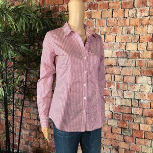 Theory Tops - Theory Pink and White Stripe button down shirt S
